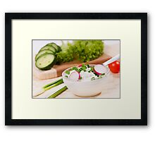 cottage cheese with radish Framed Print