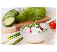 cottage cheese with radish Poster