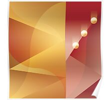 Art Deco abstract background design Poster