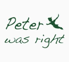 peter was right Baby Tee