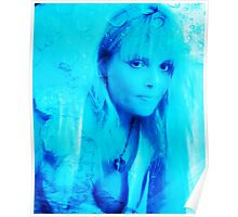 Aqua Blonde Poster