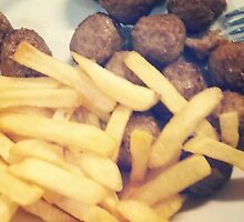 Swedish Ikea Meatballs And Chips by Kesterb628