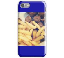 Swedish Ikea Meatballs And Chips iPhone Case/Skin