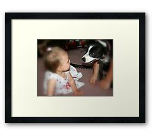 Meeting  cousin Jessie Framed Print