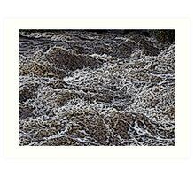 Rushing Water Color Engraving Art Print