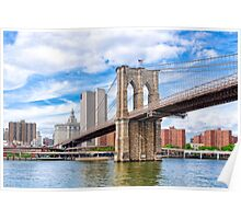 Historic Brooklyn Bridge And The New York City Skyline Poster