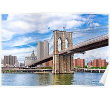 Historic Brooklyn Bridge And The New York City Skyline Poster
