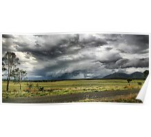 Mt Walsh Gustfront - Biggenden Qld Poster
