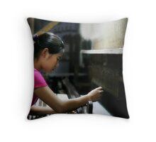 silk weaver Throw Pillow
