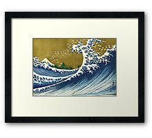 Japanese wave - Square Framed Print