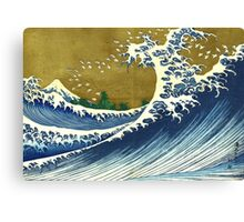 Japanese wave - Square Canvas Print