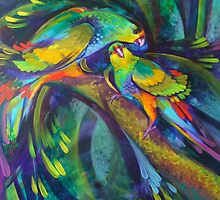 Birdbathing by De Gillett