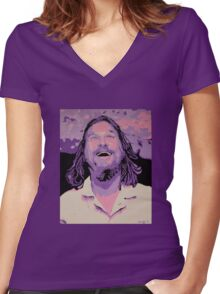 The Dude Women's Fitted V-Neck T-Shirt