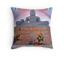 Unfinished Buddha  - Thailand Throw Pillow