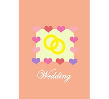Wedding Card Photographic Print