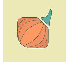 Orange pumpkin with tail in flat style Photographic Print