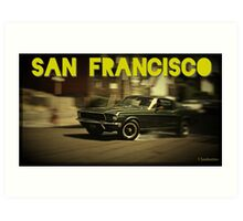 San Francisco & Muscle Cars Art Print