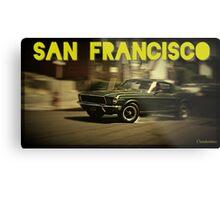 San Francisco & Muscle Cars Metal Print