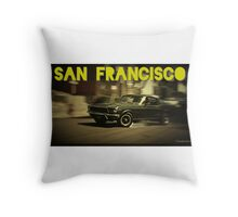 San Francisco & Muscle Cars Throw Pillow