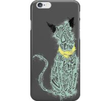 """Lying Cat """"lying"""" cut out- splattered iPhone Case/Skin"""