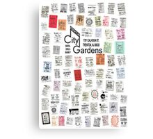 City Gardens Punk Card Print version 2.0 Canvas Print