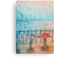 Rainy Day Summertime, Seaford Promenade (East Sussex) Canvas Print