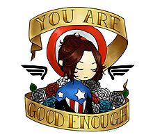 bucky says believe in yourself Photographic Print