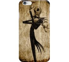 Nightmare skelleton - Wood,Old paper texture - iPhone Case/Skin