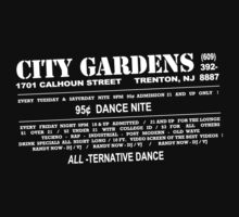 City Gardens - Punk Card Tee Shirt (v 1.1) by Fitcharoo