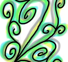 Green Floral by Rinschka