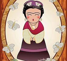 Kokeshi Frida Kahlo by Pendientera