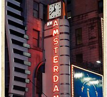 Amsterdam Theater in Times Square at night - Kodachrome Postcards by Reinvention