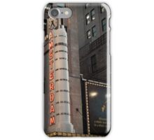 Amsterdam Theater in Times Square- Kodachrome Postcards iPhone Case/Skin