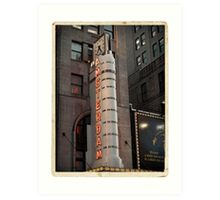 Amsterdam Theater in Times Square- Kodachrome Postcards Art Print