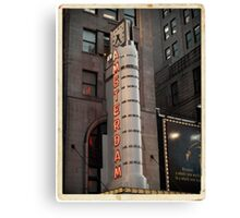Amsterdam Theater in Times Square- Kodachrome Postcards Canvas Print