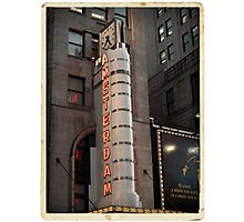 Amsterdam Theater in Times Square- Kodachrome Postcards Photographic Print