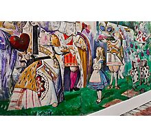 Alice Meets The King and Queen Of Hearts Photographic Print