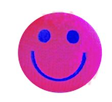 Pink Smiley Face Photographic Print