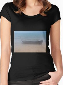 Waiting in Fog Women's Fitted Scoop T-Shirt