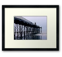 Rainy Day On The Pier - Saltburn - Cleveland Framed Print