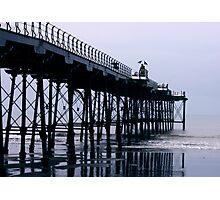 Rainy Day On The Pier - Saltburn - Cleveland Photographic Print