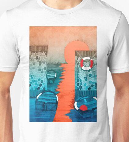 Sun Falling into the Sea Unisex T-Shirt