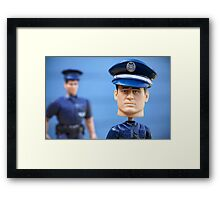 Boys in Blue Framed Print