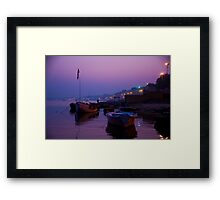 Purple Ganges Framed Print