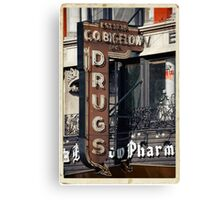 Drugstore in the West Village - Kodachrome Postcards Canvas Print