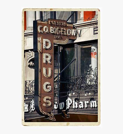 Drugstore in the West Village - Kodachrome Postcards Photographic Print