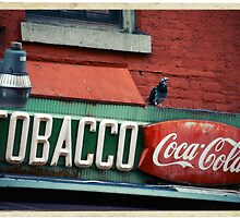 Tobacco - Coca Cola Sign in the West Village - Kodachrome Postcard  by Reinvention