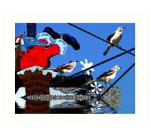 Merry Christmas  & Happy New Year from Florida Art Print