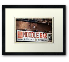 Noodle Bar in the East Village - Kodachrome Postcard Framed Print