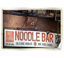 Noodle Bar in the East Village - Kodachrome Postcard Poster